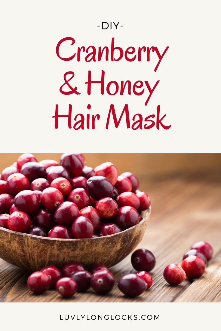Learn how to make your own cranberry and honey hair mask at LuvlyLongLocks.com.