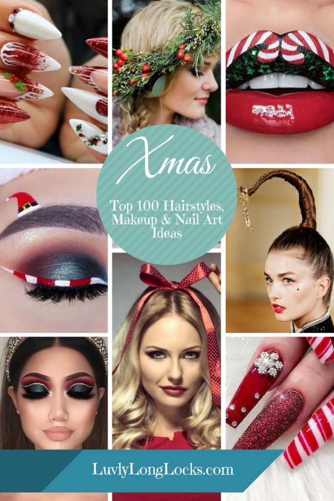Festive Christmas Hairstyles And Hair Colors Luvlylonglocks